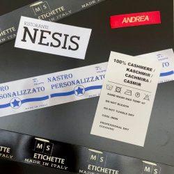 Etichette tessili personalizzate
